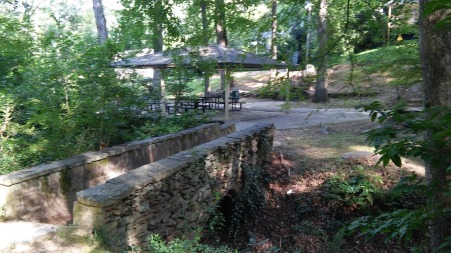 The Solar System Walking Trail runs through the shady Rock Creek Greenway