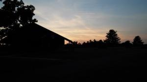 Sunset at E. Carroll Joyner Park